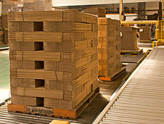 Stacks of corrugated packaging [photo]