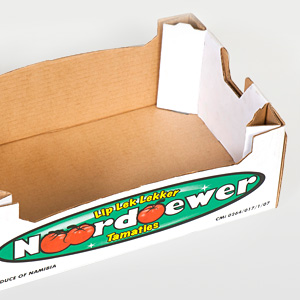 Corrugated packaging product – Noordoewer tomatoes [photo]
